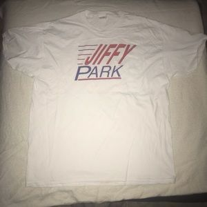 "Seinfeld ""Jiffy Park"" White XLarge Unisex Tee"